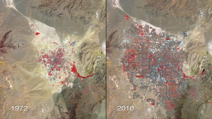 Annoter une carte – Evolution de l'occupation du sol et concept de développement – Cas du développement de Las Vegas