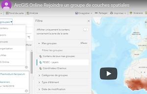 ArcGIS Online – Rejoindre un groupe de couches spatiales