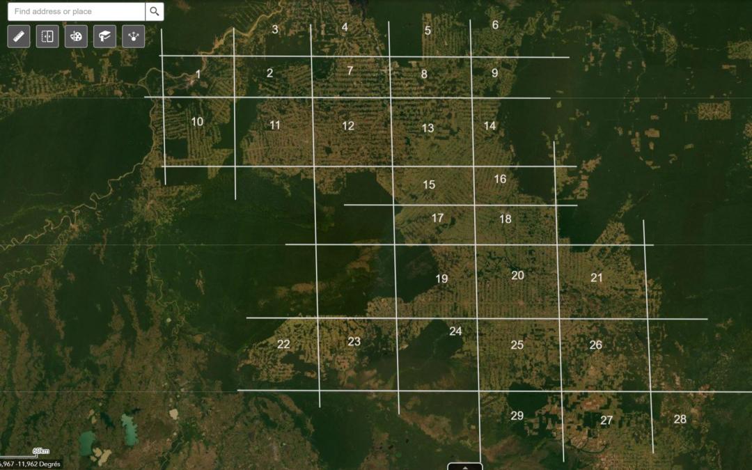 Annoter une carte pour mettre en évidence l'occupation des sols dans les espaces déforestés (concepts de développement et de dépendance au milieu) (5e)