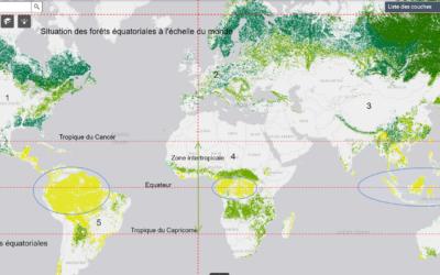 Déforestation – La répartition des forêts équatoriales (5e)