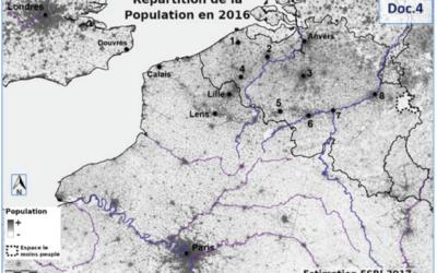 Situer des espaces peu ou fortement peuplés en Belgique