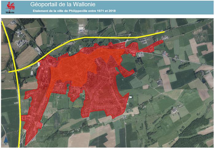 Annoter une carte pour décrire la croissance urbaine de Philippeville (3e)