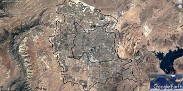 Etalement urbain – L'influence du relief sur le développement de Las Vegas (3e)