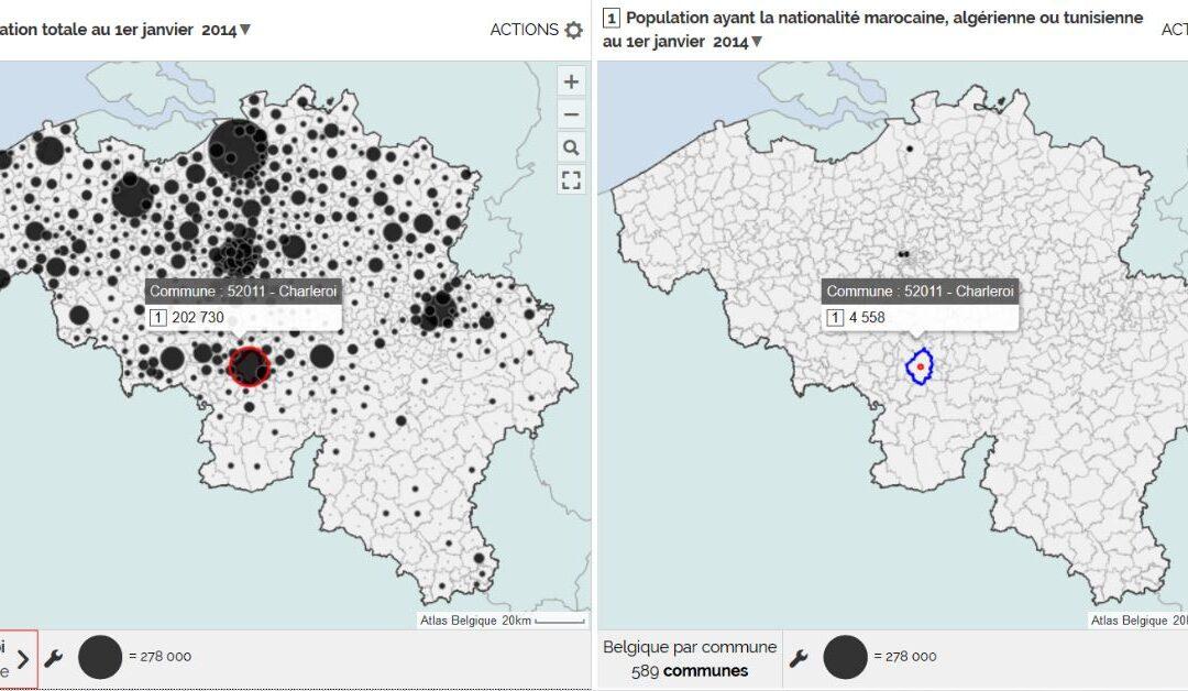 Flux migratoires – La part de la population étrangère en Belgique (3e)