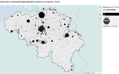 Rédiger un texte décrire la répartition spatiale de la population étrangère en Belgique (3e)