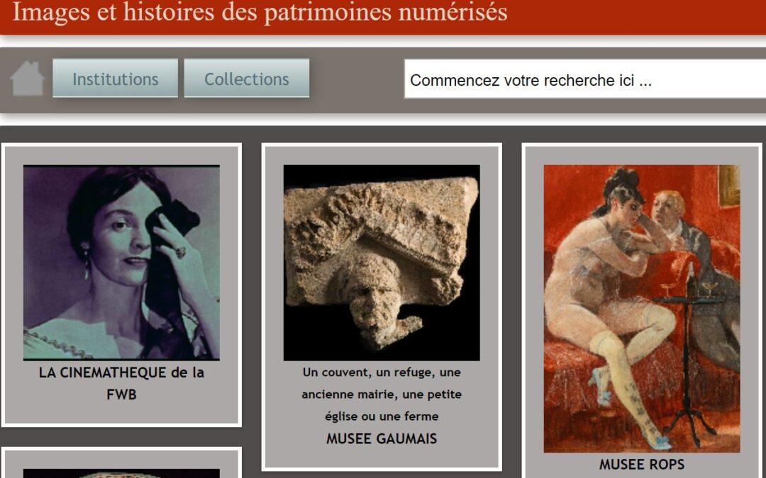 Images et histoires des patrimoines numérisés belges
