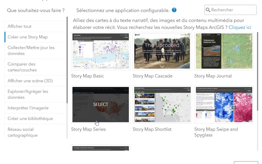 Un récit cartographique – Versions de base (Story Maps)