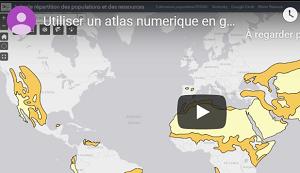 Filtrer des couches dans l'atlas numérique de 3e année