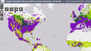 Filtrer des couches dans l'atlas numérique de 4e et 5e années