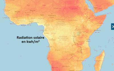 Rédiger un texte pour expliquer la répartition d'une ressource – La radiation solaire à l'échelle de l'Afrique