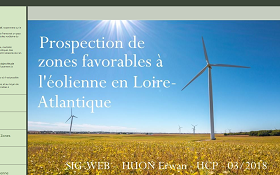 Prospection des zones favorables à l'éolienne en Loire-Atlantique