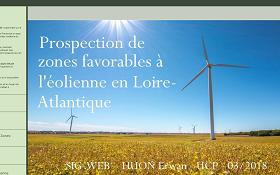 Prospection des zones favorables à l'éolienne en Loire-Atlantique
