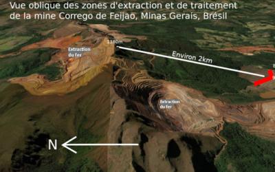 Annoter des vues pour mettre en évidence le risque associé aux aménagements miniers de Brumadinho au Brésil