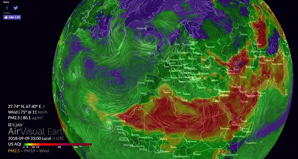 Air Quality Index en temps réel