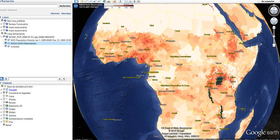 Ajouter des couches dans Google Earth (sur l'ordinateur ou Online)