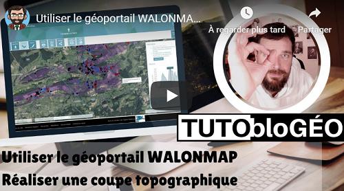 Relief,  géologie et profil du relief – Exemple d'utilisation du géoportail WalOnMap