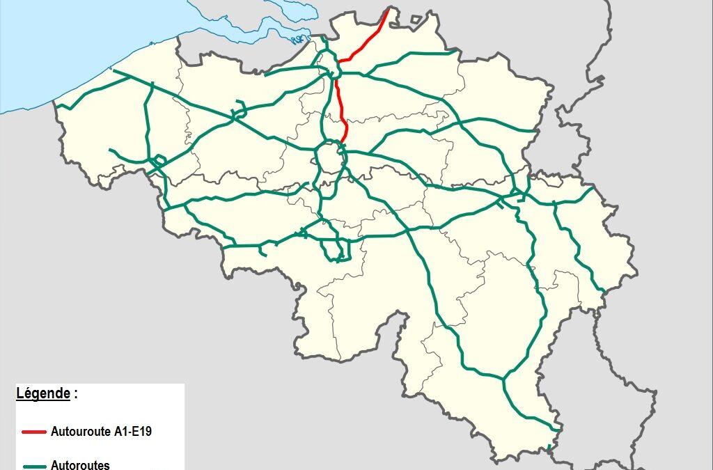 *** Utiliser des repères et des représentations de l'espace – Circuler en Belgique : le réseau autoroutier – S. 1/2 – 1/5 -1/8 – 2/1