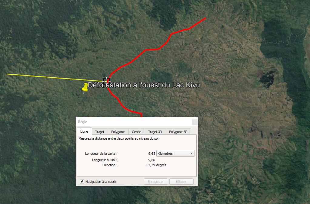 Google Earth – Caractériser et quantifier une évolution spatiale