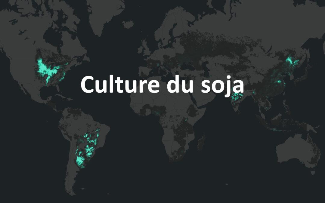 Rédiger un texte / compléter un tableau de contraintes pour expliquer la répartition spatiale de la culture du soja