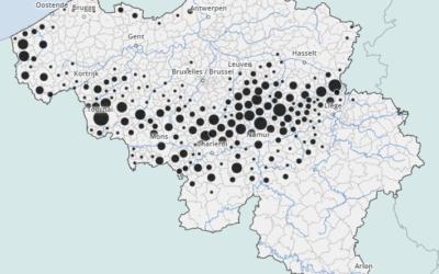 La répartition de la culture de la betterave en Belgique