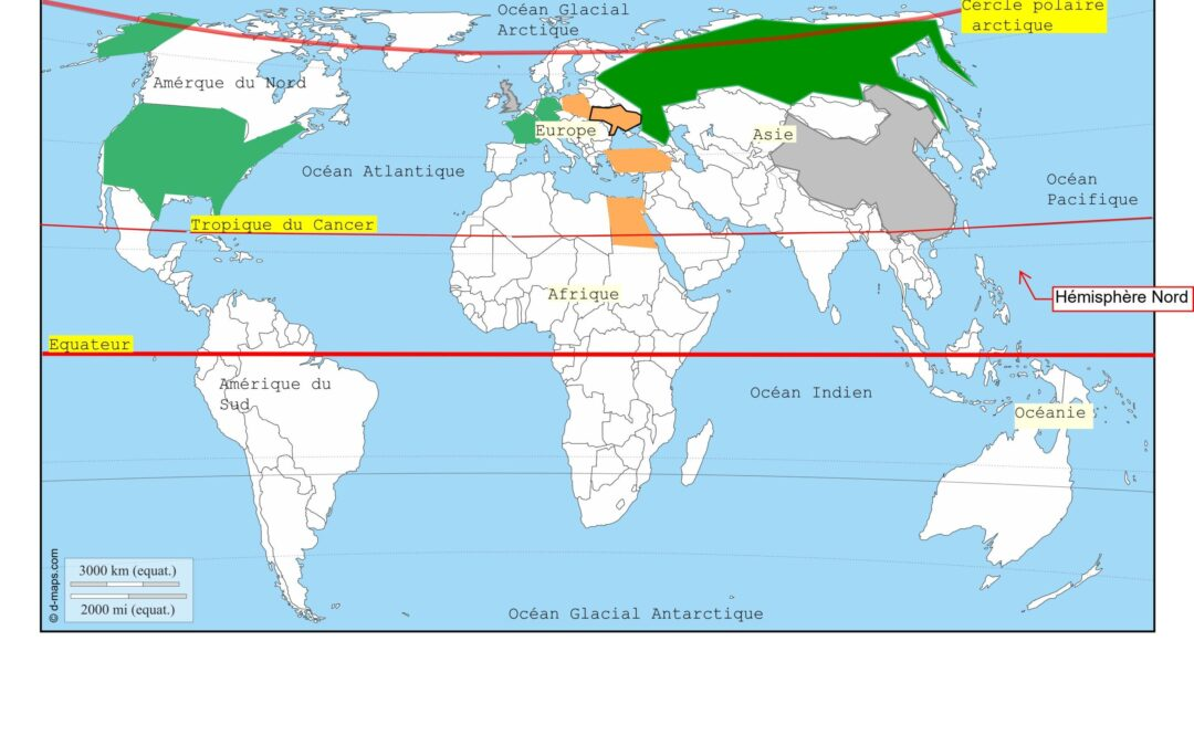 ***  Repères et représentations de l'espace – la répartition de la culture de betterave  et de la canne a sucre – 2.3/2.4/2.8