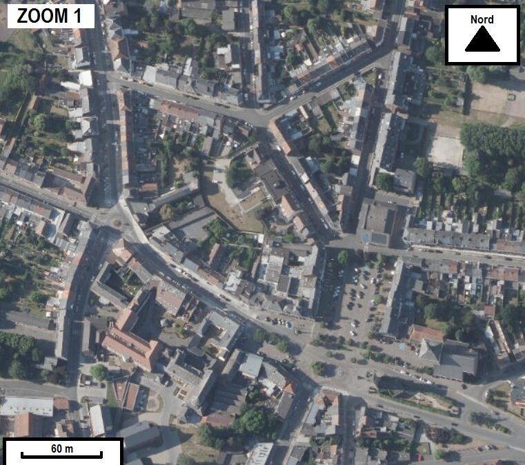 Identifier des zones résidentielles, industrielles et agricoles autour de Saint-Ghislain
