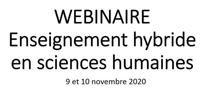 Webinaire novembre 2020 – Enseignement hybride en sciences humaines