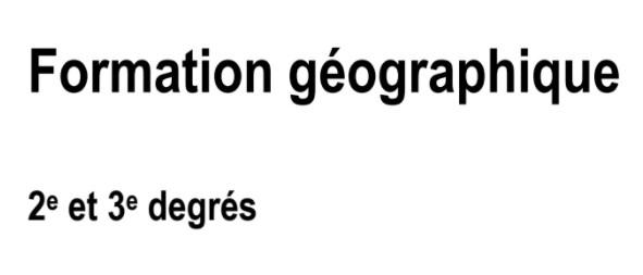 Formation géographique – Programme – Version PDF