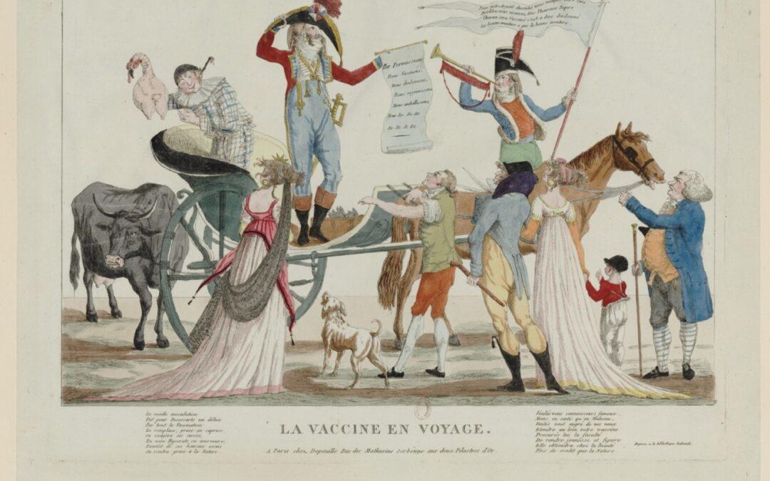 Analyser une caricature : L'évolution des sciences et des techniques – la vaccine en voyage