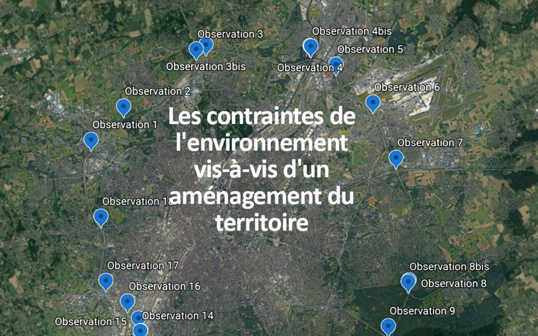 Analyse des contraintes spatiales vis-à-vis de l'élargissement du ring de Bruxelles