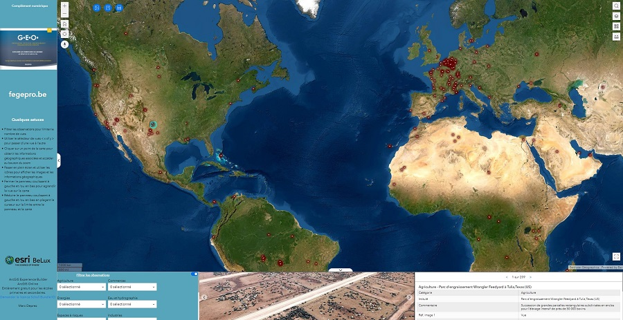 Des  exemples d'occupation du sol – Atlas numérique – GEO 84