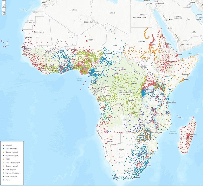Créer une carte ponctuelle sur ArcGIS à partir d'un fichier Excel – L'exemple des hôpitaux en Afrique