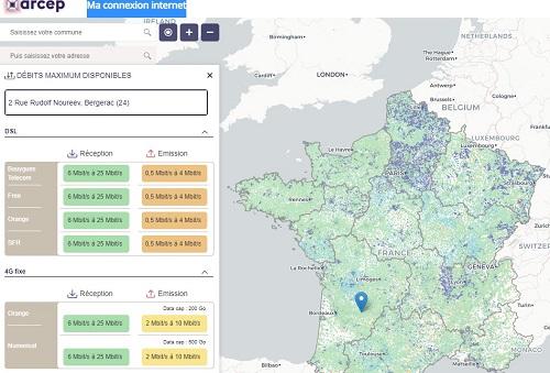 Inégalité de l'accès aux fonctions d'un territoire – Le cas de l'accès à l'Internet en France
