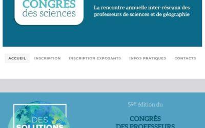 Congrès des sciences -24 & 25 aout 2021 – Consultez le programme!
