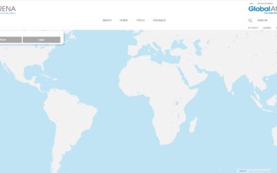 Global Atlas : couches éoliennes et radiation solaire