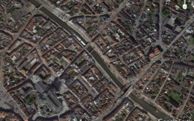 Circuler dans un milieu urbain, Tournai : Un parcours Google Earth en histoire et géographie